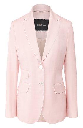 Женский жакет из смеси шерсти и шелка KITON розового цвета, арт. D46518K09S07 | Фото 1
