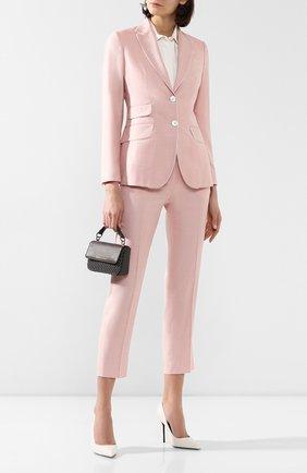 Женский жакет из смеси шерсти и шелка KITON розового цвета, арт. D46518K09S07 | Фото 2