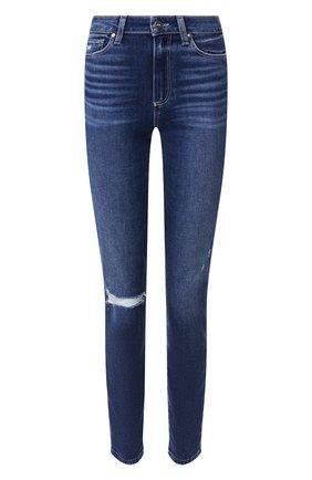 Женские джинсы PAIGE синего цвета, арт. 2824F72-7476 | Фото 1