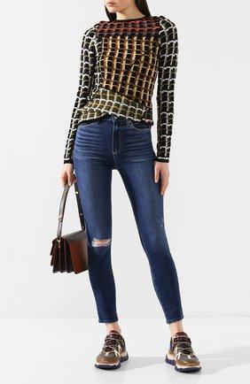 Женские джинсы PAIGE синего цвета, арт. 2824F72-7476 | Фото 2