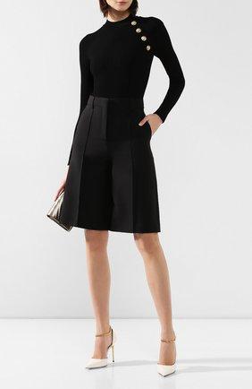 Женское боди из вискозы BALMAIN черного цвета, арт. TF10943/K030 | Фото 2