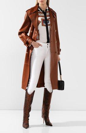 Женское кожаное пальто RALPH LAUREN коричневого цвета, арт. 290791388   Фото 2