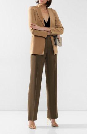 Женские шерстяные брюки RALPH LAUREN зеленого цвета, арт. 290767542 | Фото 2