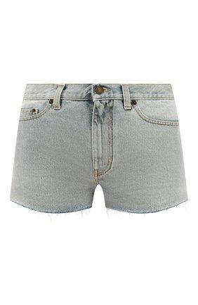 Женские джинсовые шорты SAINT LAURENT голубого цвета, арт. 597005/Y807P | Фото 1