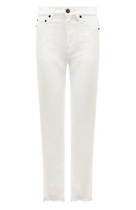 Женские джинсы SAINT LAURENT белого цвета, арт. 612061/Y8880 | Фото 1
