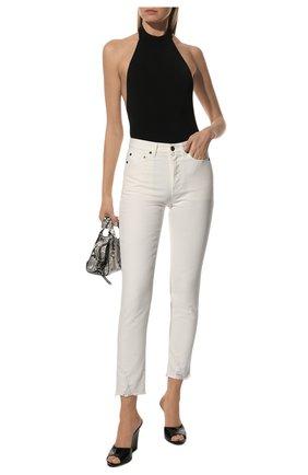 Женские джинсы SAINT LAURENT белого цвета, арт. 612061/Y8880 | Фото 2
