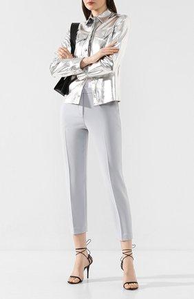 Женские брюки со стрелками THEORY голубого цвета, арт. J0709220 | Фото 2