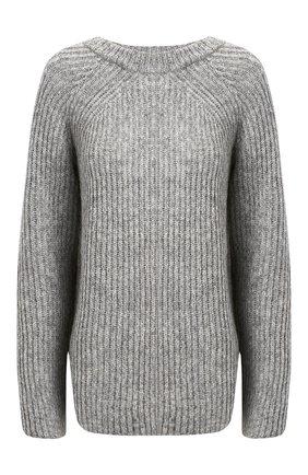 Женская шерстяной свитер HELMUT LANG светло-серого цвета, арт. J09HW701 | Фото 1