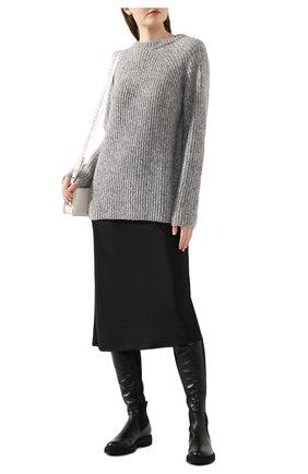Женский шерстяной свитер HELMUT LANG светло-серого цвета, арт. J09HW701   Фото 2