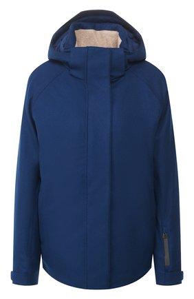 Женская утепленная куртка LORO PIANA синего цвета, арт. FAL0204 | Фото 1