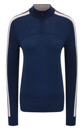 Женская шерстяной пуловер LORO PIANA синего цвета, арт. FAL0054 | Фото 1