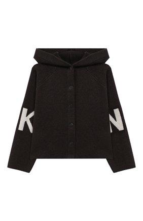 Детский куртка DKNY серого цвета, арт. D35Q40 | Фото 1