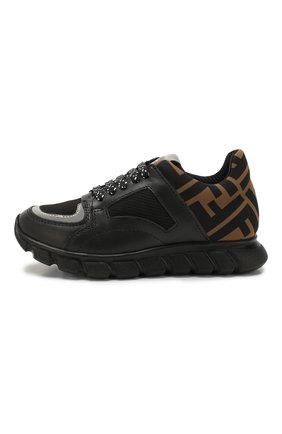 Детские кроссовки FENDI черного цвета, арт. JMR287/A8CJ/28-35 | Фото 2