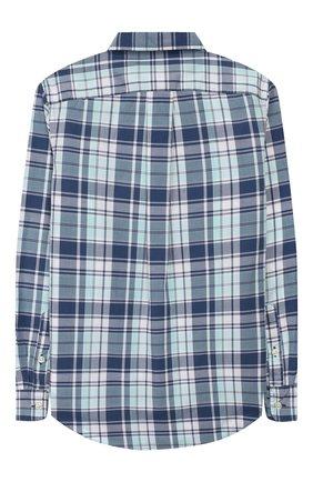 Детская хлопковая рубашка RALPH LAUREN бирюзового цвета, арт. 323760823   Фото 2