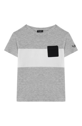 Детский комплект из футболки и шорт IL GUFO серого цвета, арт. P20DP318M0095/3M-9M | Фото 2