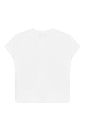 Детский хлопковая футболка IL GUFO белого цвета, арт. P20TS226M0014/3M-9M | Фото 2
