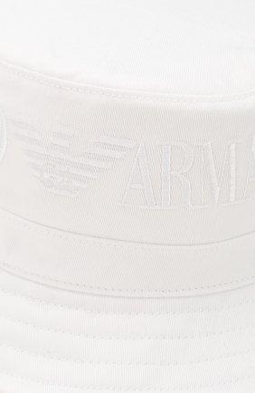 Детская хлопковая панама EMPORIO ARMANI белого цвета, арт. 404607/0P474 | Фото 3
