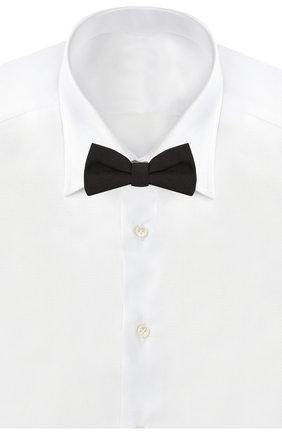 Детский галстук-бабочка из шелка EMPORIO ARMANI черного цвета, арт. 409531/0P955 | Фото 2