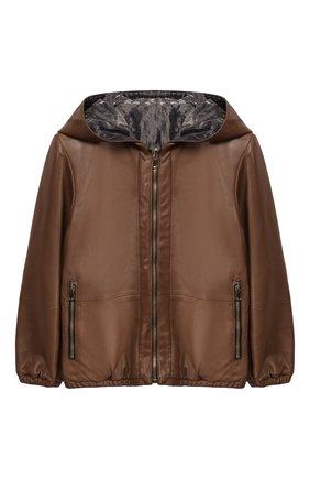 Двусторонняя куртка из кожи | Фото №1