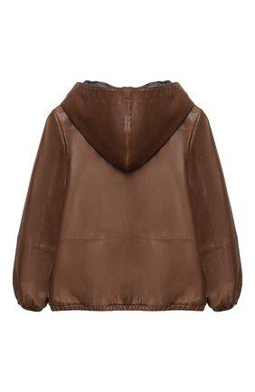 Двусторонняя куртка из кожи | Фото №2