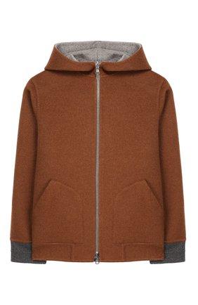 Двусторонняя куртка из кашемира   Фото №1