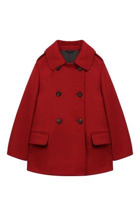 Детское двубортное пальто из шерсти BRUNELLO CUCINELLI красного цвета, арт. BB5249490B | Фото 1