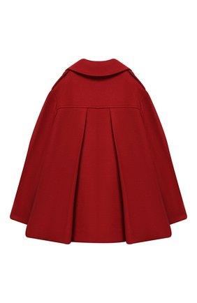 Детское двубортное пальто из шерсти BRUNELLO CUCINELLI красного цвета, арт. BB5249490B | Фото 2