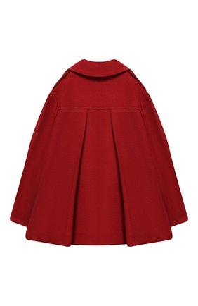 Детское двубортное пальто из шерсти BRUNELLO CUCINELLI красного цвета, арт. BB5249490A | Фото 2