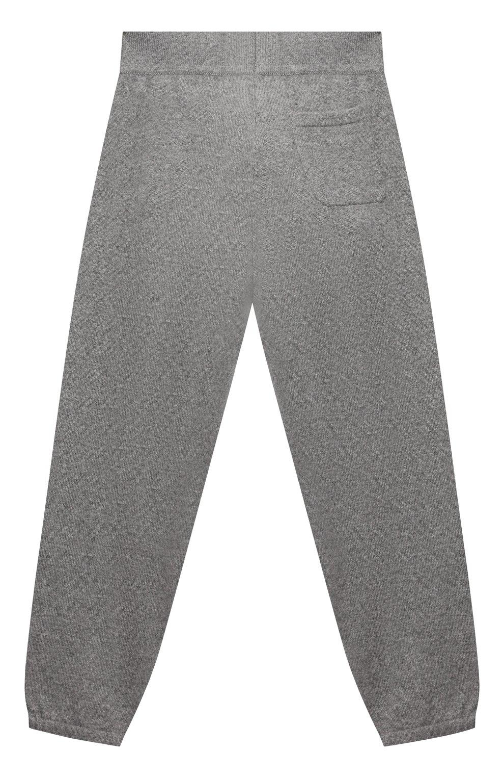 Детские кашемировые джоггеры LORO PIANA серого цвета, арт. FAL0600 | Фото 2