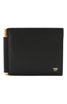 Мужской кожаный зажим для денег TOM FORD черного цвета, арт. Y0231T-LCL053 | Фото 1