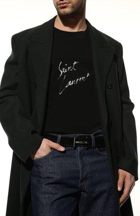 Мужской кожаный ремень TOM FORD черного цвета, арт. TB154P-CT9 | Фото 2