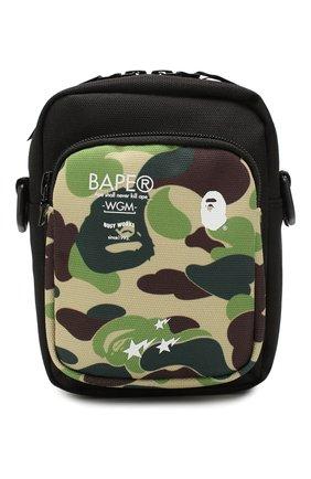 Мужская текстильная сумка BAPE зеленого цвета, арт. 1F70182177 | Фото 1