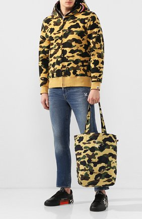 Мужская текстильная сумка-шопер BAPE желтого цвета, арт. 1F70182181 | Фото 2