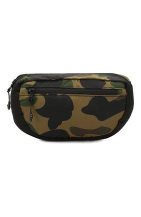 Мужская текстильная поясная сумка BAPE зеленого цвета, арт. 1F70182182 | Фото 1