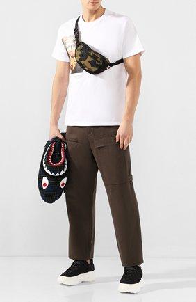 Мужская текстильная поясная сумка BAPE зеленого цвета, арт. 1F70182182 | Фото 2
