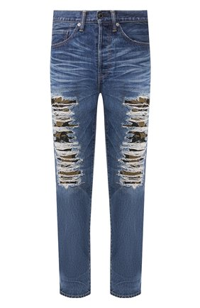 Мужские джинсы BAPE синего цвета, арт. 1F80150002 | Фото 1