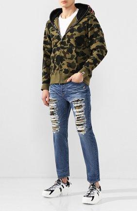Мужские джинсы BAPE синего цвета, арт. 1F80150002 | Фото 2