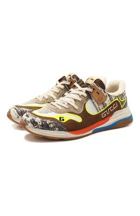 Мужские комбинированные кроссовки ultrapace GUCCI разноцветного цвета, арт. 592345/1LH10 | Фото 1