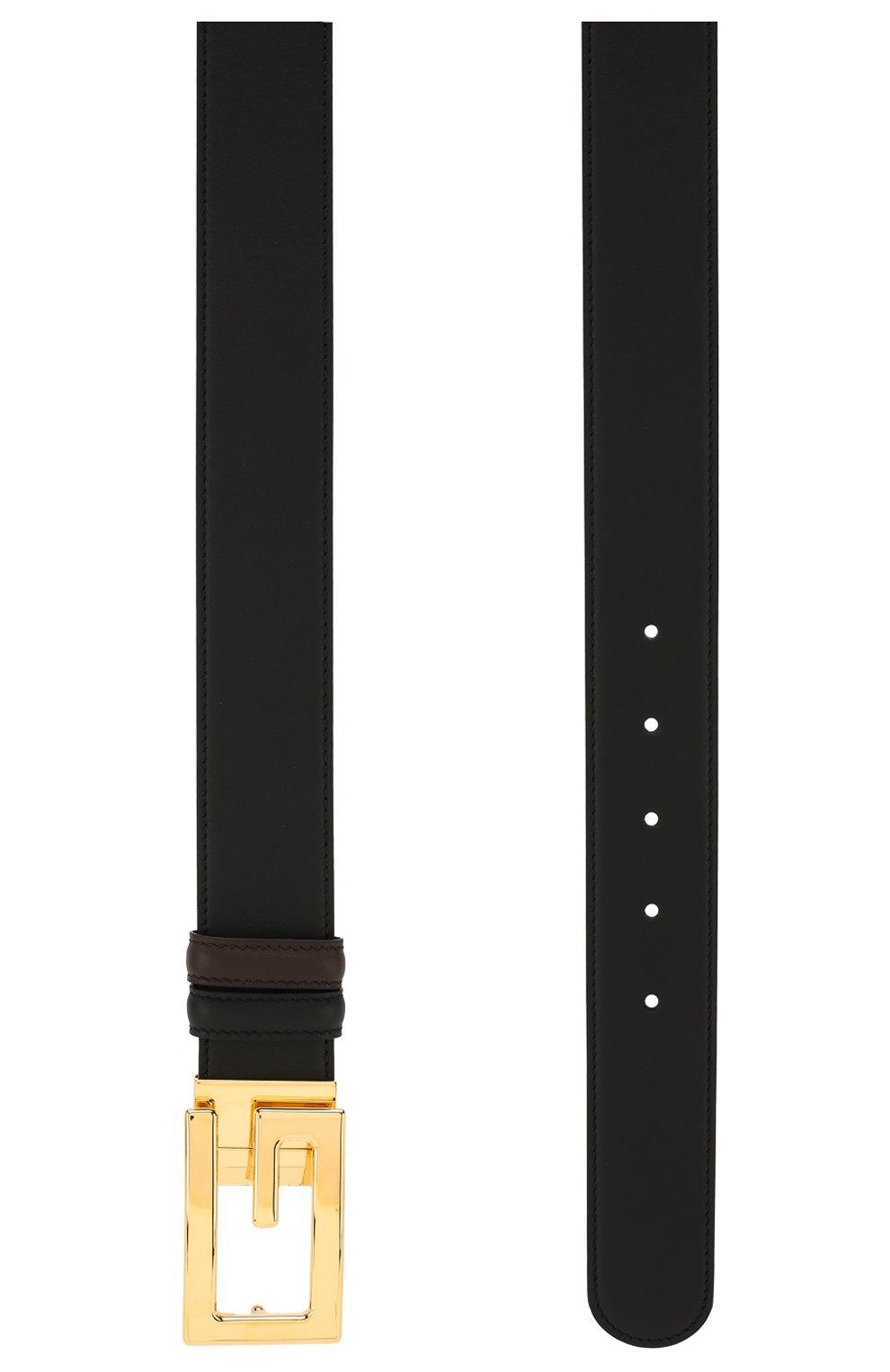 Мужской двусторонний кожаный ремень GUCCI черного цвета, арт. 573156/AP0BG   Фото 2