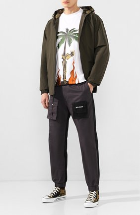 Мужские текстильные кеды BAPE зеленого цвета, арт. 1F80191004 | Фото 2
