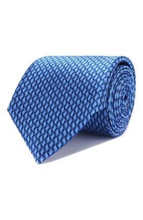 Мужской шелковый галстук CANALI темно-синего цвета, арт. 18/HS02725   Фото 1