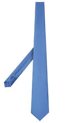 Мужской шелковый галстук CANALI темно-синего цвета, арт. 18/HS02725   Фото 2