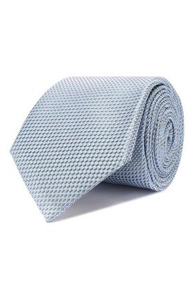Мужской шелковый галстук CANALI голубого цвета, арт. 18/HJ02707   Фото 1