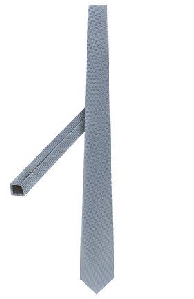 Мужской шелковый галстук CANALI голубого цвета, арт. 18/HJ02707   Фото 2