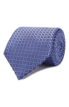 Мужской шелковый галстук CANALI синего цвета, арт. 18/HJ02682   Фото 1