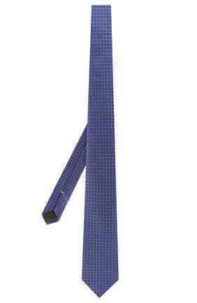 Мужской шелковый галстук CANALI синего цвета, арт. 18/HJ02682   Фото 2