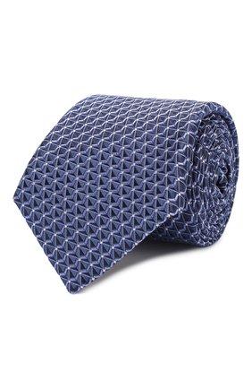 Мужской шелковый галстук CANALI темно-синего цвета, арт. 18/HJ02682   Фото 1