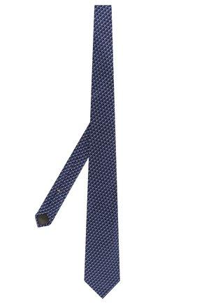 Мужской шелковый галстук CANALI темно-синего цвета, арт. 18/HJ02682   Фото 2