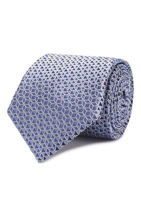Мужской шелковый галстук CANALI голубого цвета, арт. 18/HJ02682   Фото 1