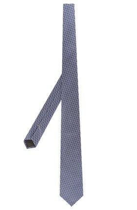 Мужской шелковый галстук CANALI голубого цвета, арт. 18/HJ02682   Фото 2